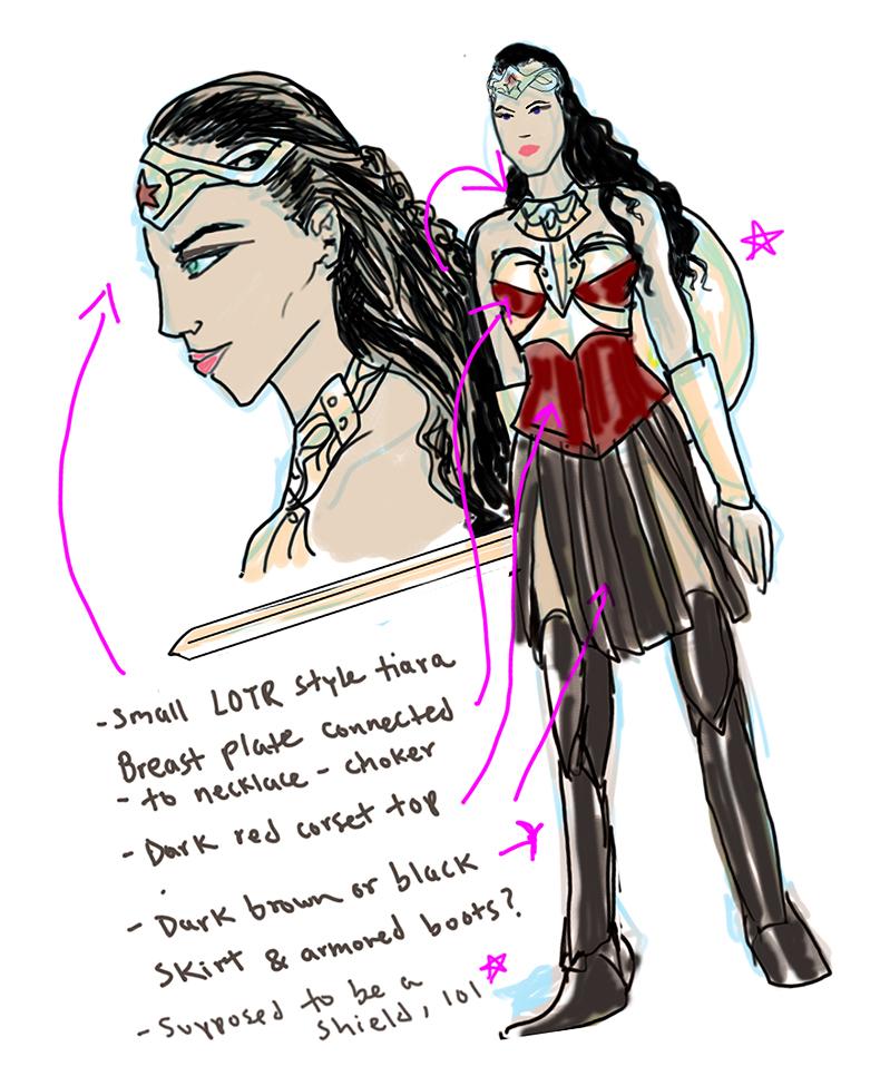 Quick Gal Gadot Wonder Woman sketch by bloogun