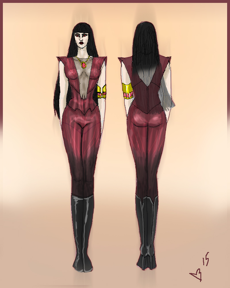 Vampirella costume redesign by bloogun