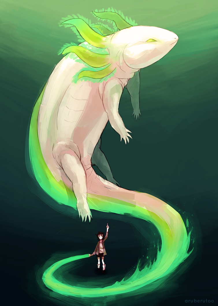 Axolotl First Guardian by AxelPows