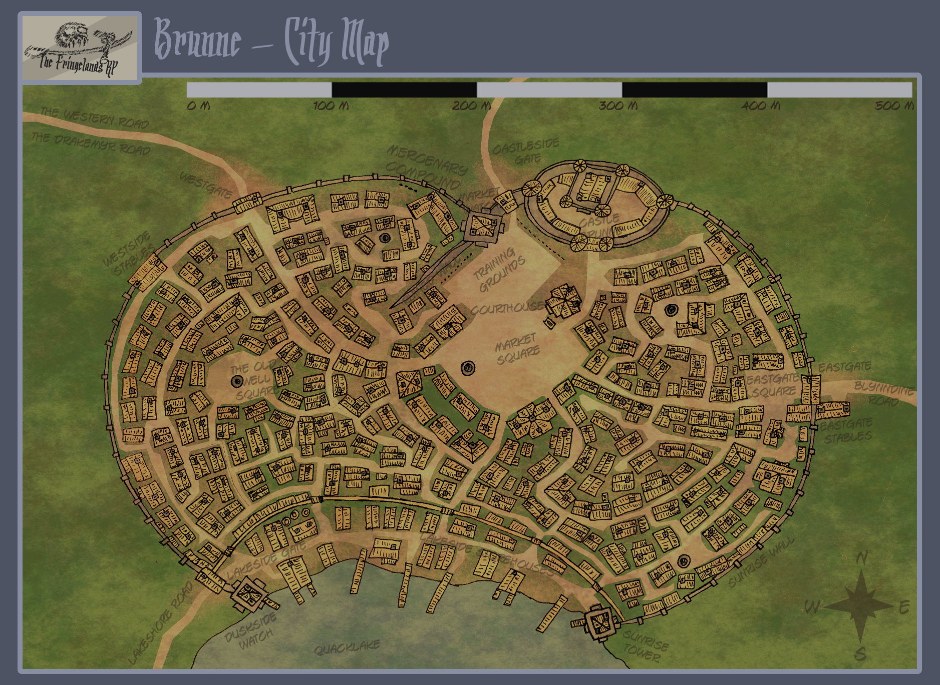 Fringeland City Map - Brunne by WeeRLegion