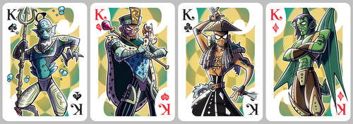 Inkjava Playing Cards [kings] by ivewhiz