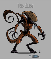 Alien model by ivewhiz