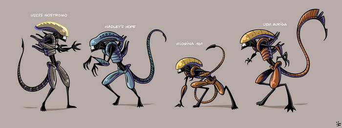 Xenomorph Roster by ivewhiz
