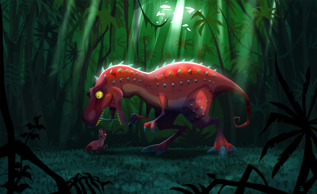 ROARRRed the T-Rex by inkjava