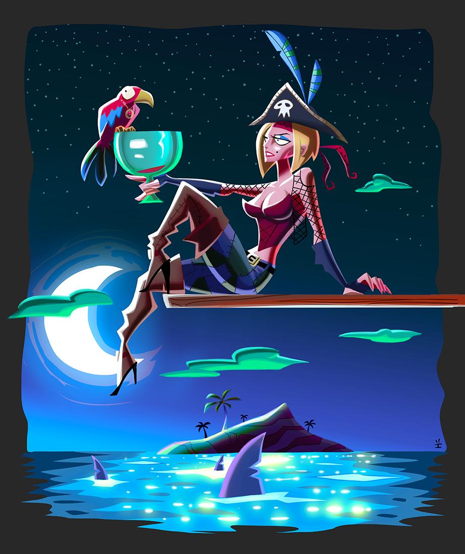 Piratesse (Night version) by inkjava