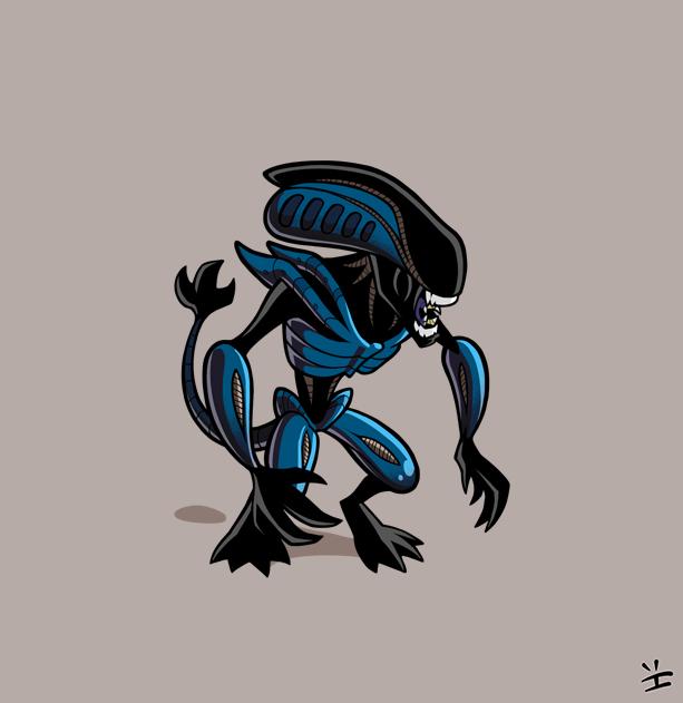 Xenomorph Roster: Gorilla Alien by inkjava