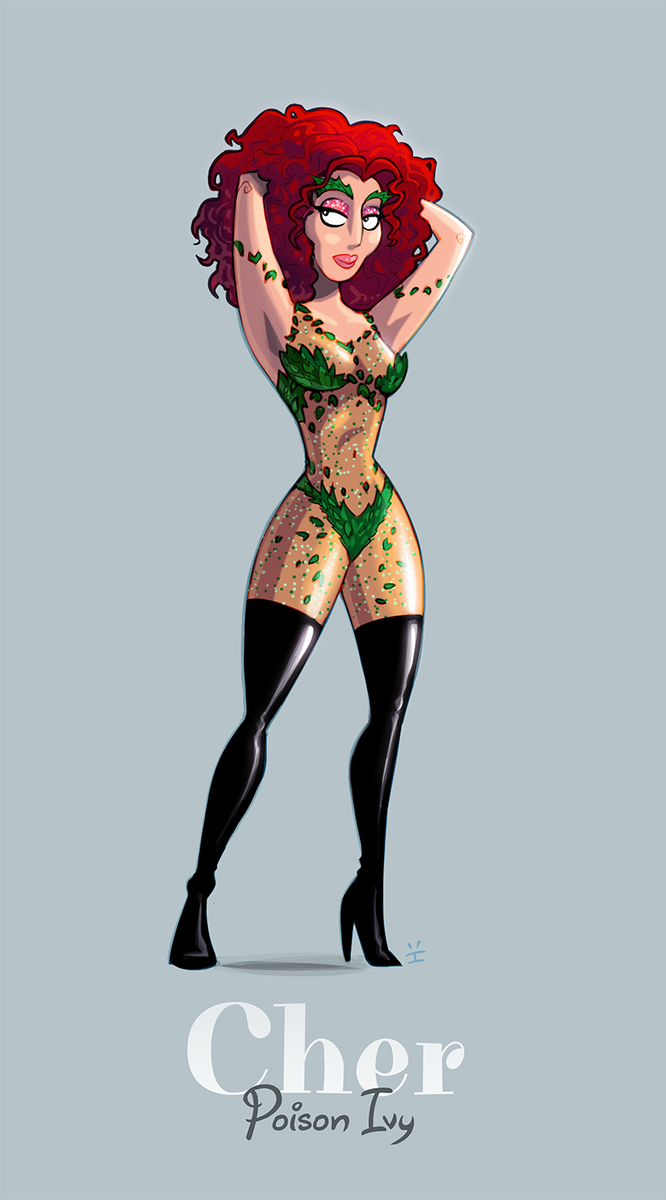 Cher as Poison Ivy by inkjava