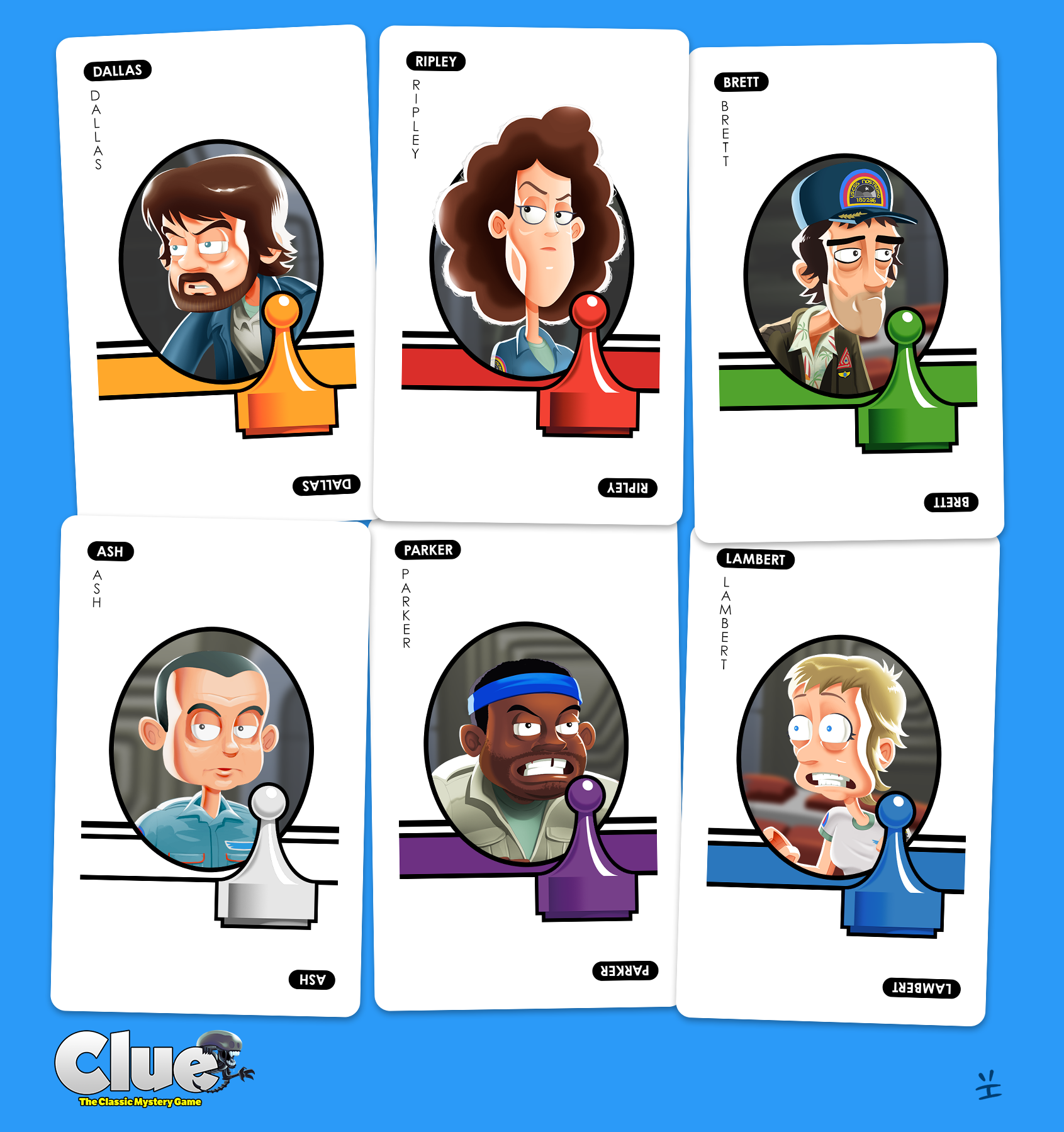 ALIEN Clue (Suspect Cards) by ivewhiz