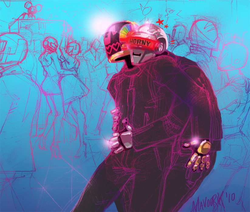 Daft Punk Slash: Club by mavoorik
