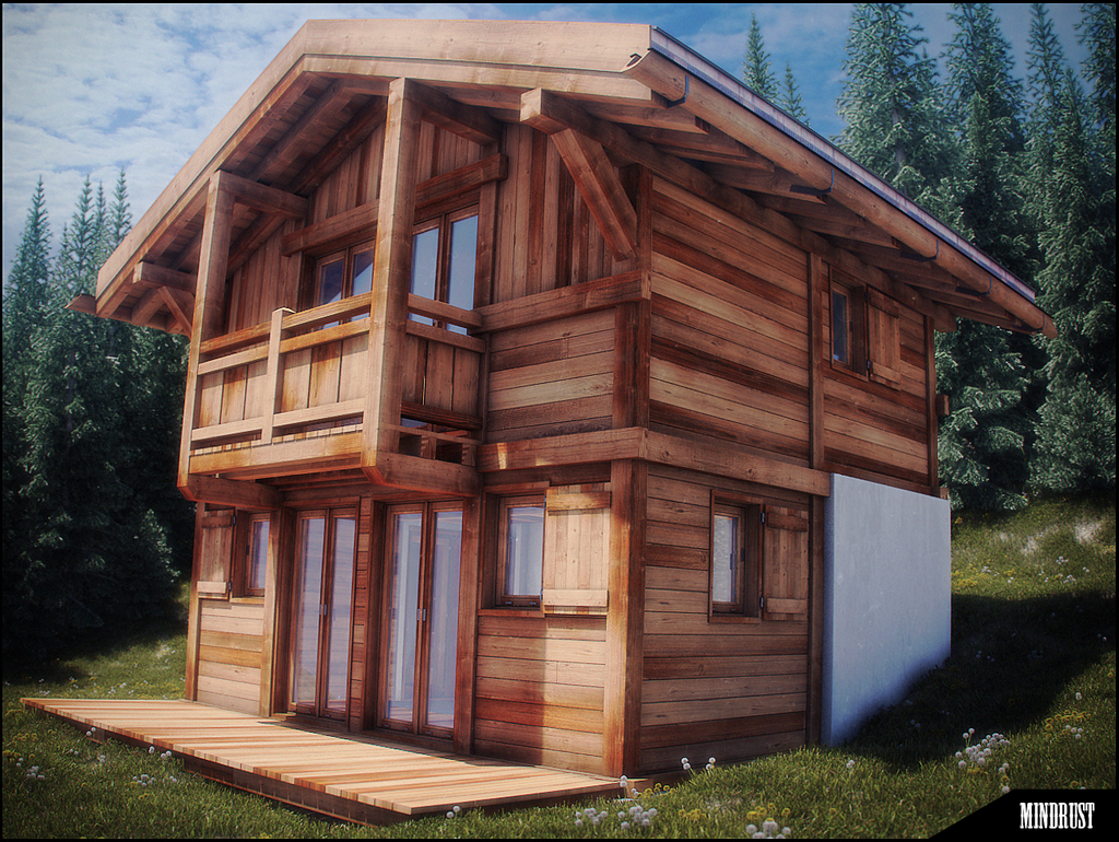 Little Swiss Chalet Wip By Mind Rust On Deviantart