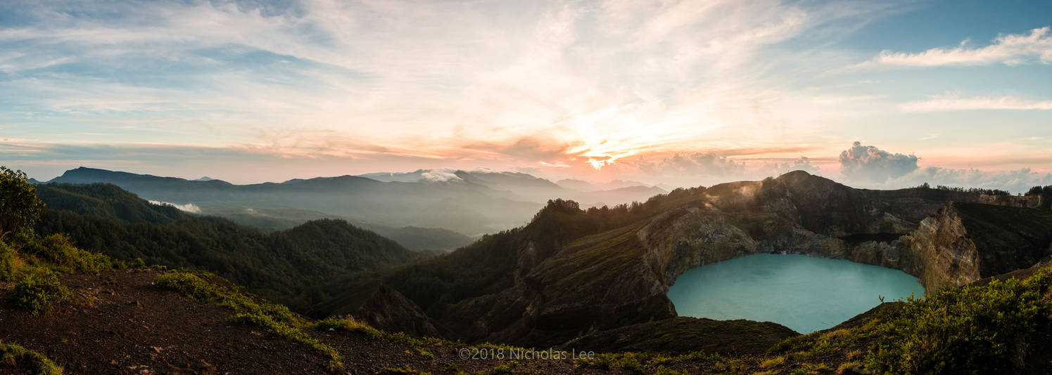 Sunrise over Kelimutu by furryphotos