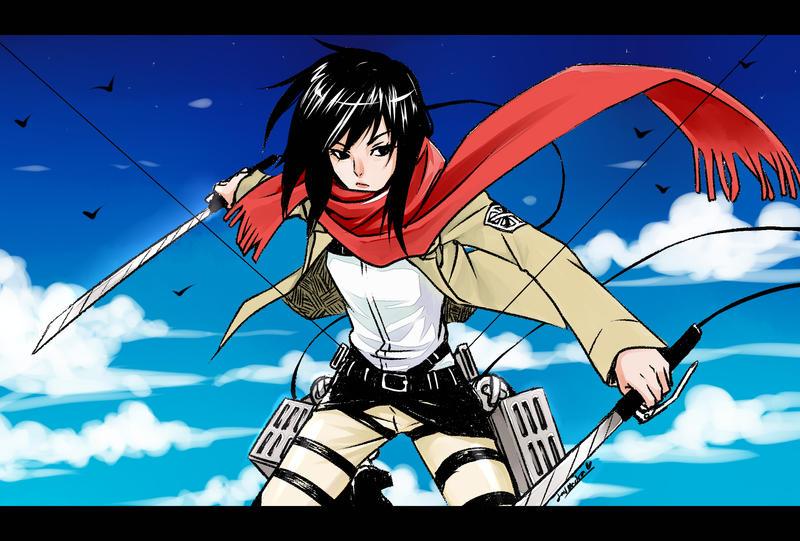 Mikasa - Shingeki no Kyojin by LavendraShingeki No Kyojin Mikasa Manga