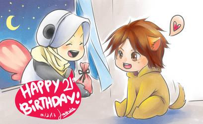 Midnight Birthday Present by Lavendra