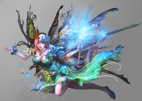 The goddess of butterfly