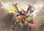 Angel of fighting spirit