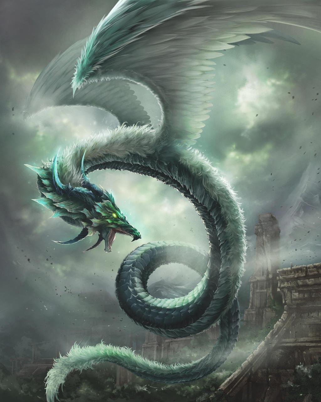 Wind dragon(Basic version) by antilous on DeviantArt Dragon
