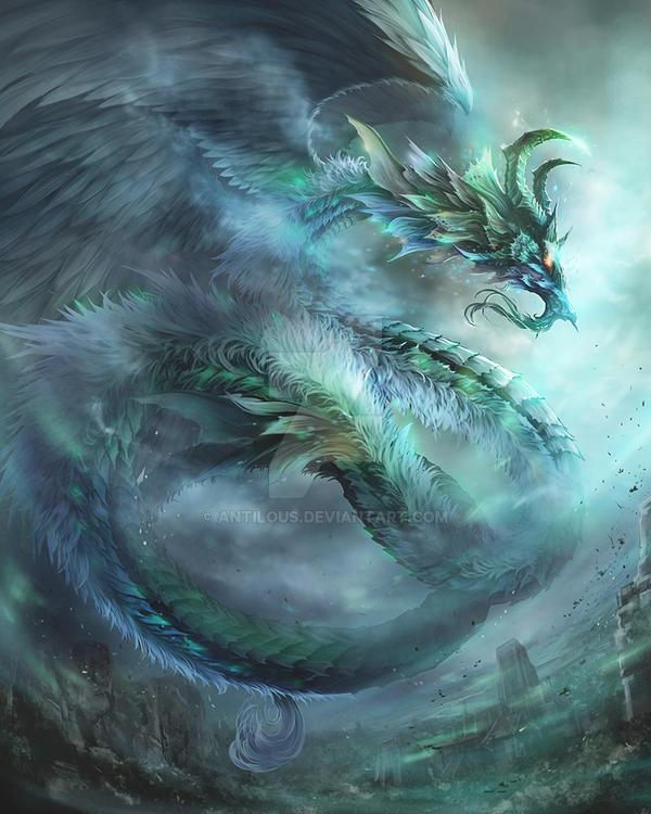 Wind dragon evolution by antilous on deviantart for Green monster fishing light