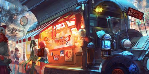 Xmas-Teddy's food truck