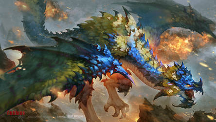 Blue Dragon by antilous
