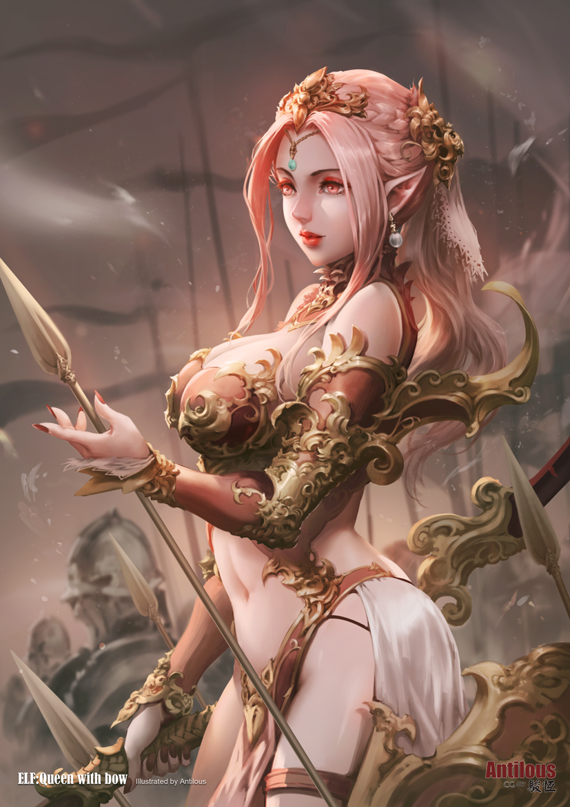 Elf Queen with bow