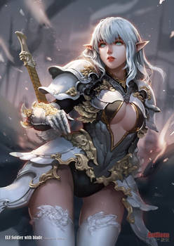 Elf Soldier with blade