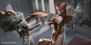 Elf_Queen and Soldier