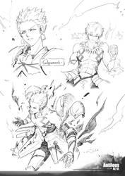 Fate_Gilgamesh_Line art