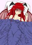 Demongirl in bed