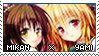 Mikan x Yami Stamp 2 by LateDaybreak