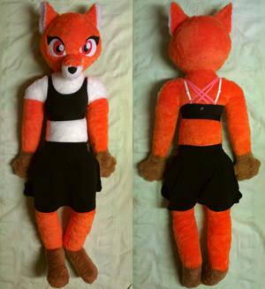 Anthro fox plush, life-size