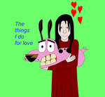 Courage the Cowardly Dog meets Alma Wade by Mcrfan343