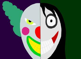 Clown Statue Killer VS Jeff The Killer by Mcrfan343