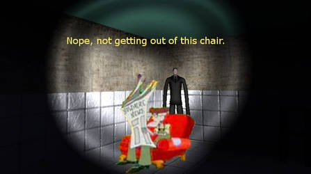 Eustace won't get out of his chair for Slenderman