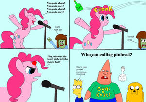 Pinkie Pie Gets Hit With A Bottle While Singing