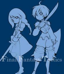 WIP: Final Fantasy Tactics by paper-hero