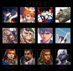 Art Summary 2014 by paper-hero