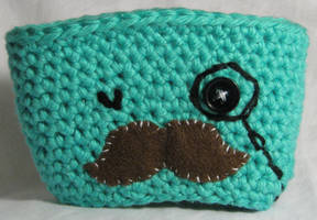 Mustache Man Cup Cozy by NickelPhotography