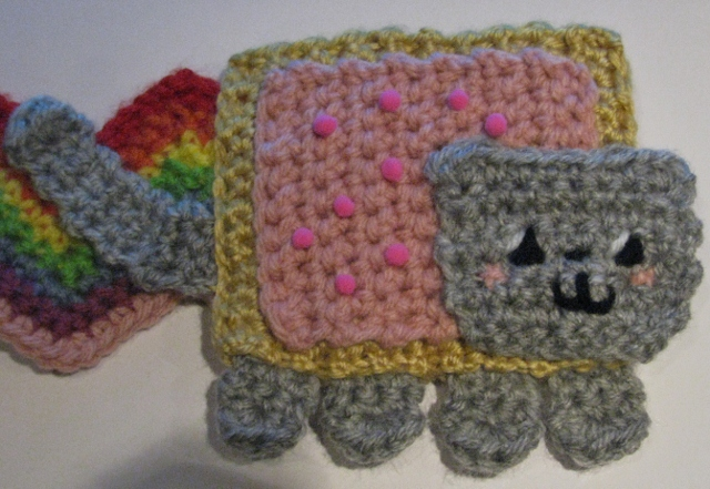 Pattern for Nyan Cat Scarf by NickelPhotography on DeviantArt