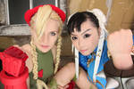 Chun-Li and Cammy Cosplay photograph