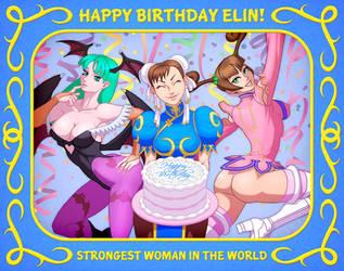 HAPPY BIRTHDAY ELIN!! by Elin-Kuzunoha