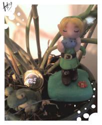Link Playing ocarina by ingridlaka