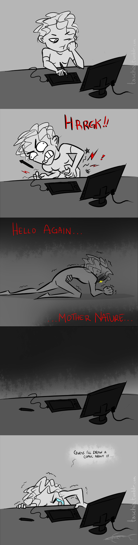 Hello Mother Nature My Old Friend by Tasch-Draws