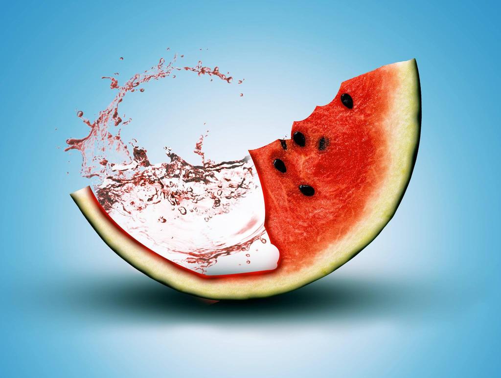 Splash melon !! by KazuukiHasegawa