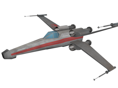 3d X-Wing by KazuukiHasegawa