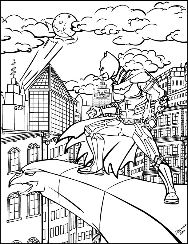 Batman Coloring Book Page By MajorWhoaButWhy