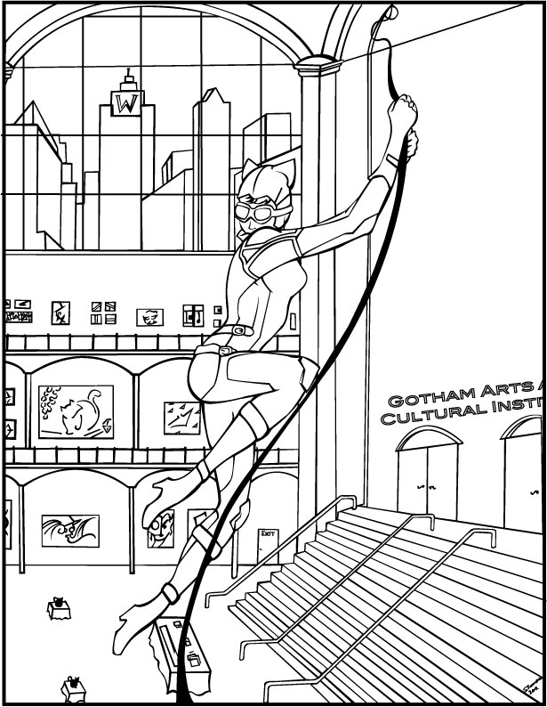 Catwoman Coloring Book Page By MajorWhoaButWhy