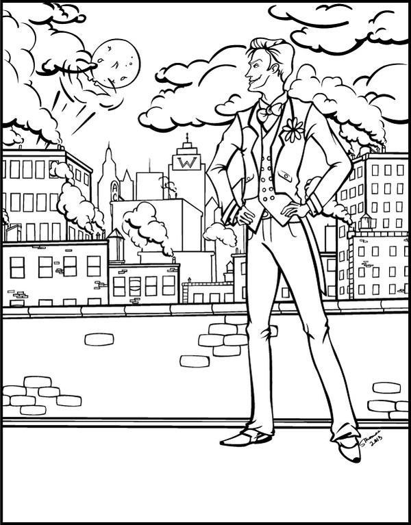 Joker Coloring Book Page By MajorWhoaButWhy