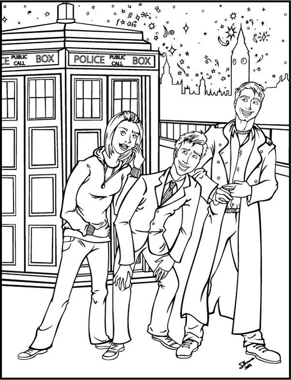 Doctor Who Coloring Book Page by MajorWhoaButWhy on DeviantArt