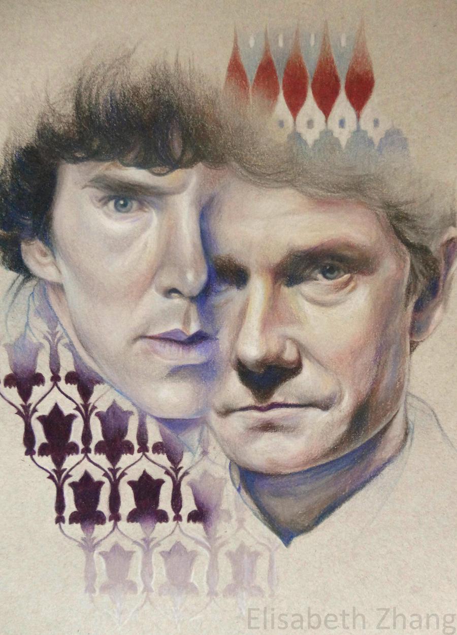 Watson and Holmes by elisabethzhang