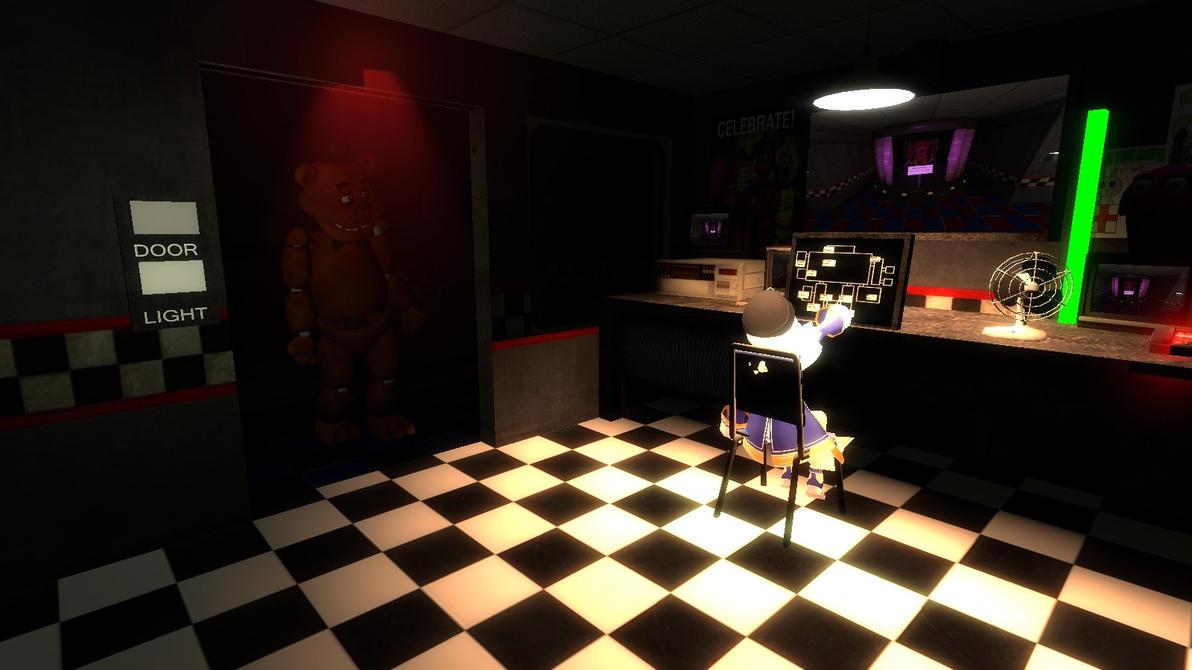 Sophie works at Freddy Fazbear Pizza by Soulmourn